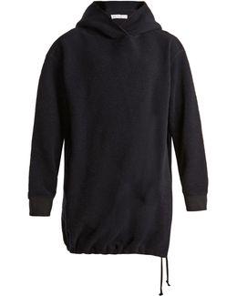 Split-side Terry-towelling Hooded Sweatshirt