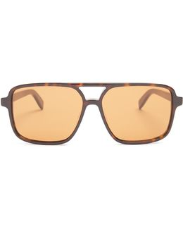Square Aviator-frame Acetate Glasses