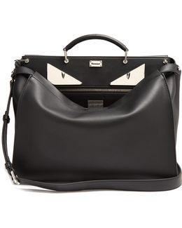 Peekaboo Bag Bugs-appliqué Leather Bag