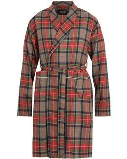 Checked Wool Robe