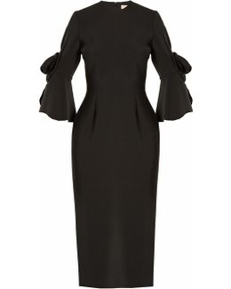 Lavete Bow-sleeved Crepe Dress