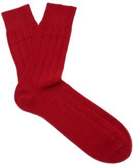 Lhasa Wool And Cashmere-blend Socks