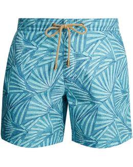 Titan-fit Fans-print Swim Shorts