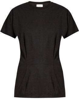 Darted Cotton T-shirt