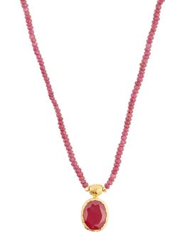 Ruby & Sterling-silver Necklace