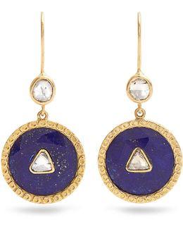 Diamond, Lapis & Yellow-gold Earrings