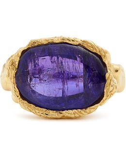 Tanzanite & Yellow-gold Ring