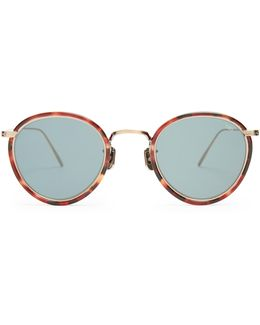 717e Round-frame Titanium Sunglasses