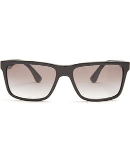 Rectangle-frame Acetate Sunglasses