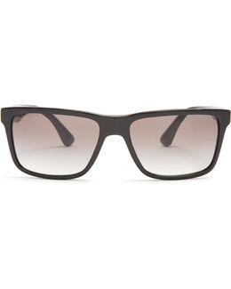 Rectangle-frame Acetate Sunglasses