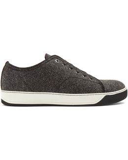 Lace-up Wool Low-top Trainers