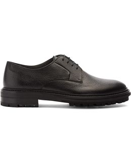 Lace-up Grained-leather Derby Shoes