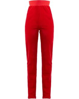 + Juicy Couture Embellished Cotton-blend Velour Track Pants