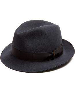 Brushed-felt Trilby Hat
