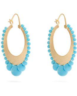 Turquoise & Yellow-gold Earrings