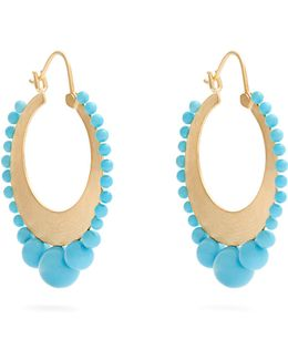 Turquoise & Yellow-gold Earrings