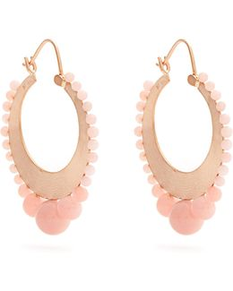 Opal & Rose-gold Earrings