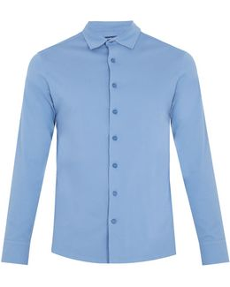 Long-sleeved Cotton-jersey Polo Shirt