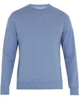 Crew-neck Cotton-blend Sweatshirt