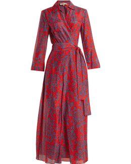 Callow-print Cotton-blend Wrap Dress