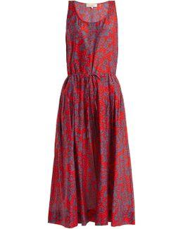 Sleeveless Cotton And Silk-blend Dress