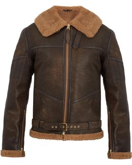 R.a.f Contrast-panel Leather Jacket
