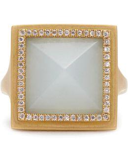 Diamond, Jade & Yellow-gold Ring