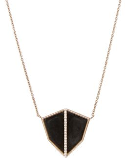 Diamond, Obsidian & White-gold Necklace