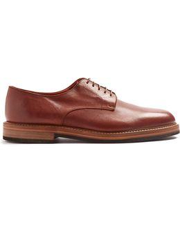 Batik Leather Derby Shoes