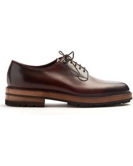 Dexter Raised-sole Leather Derby Shoes