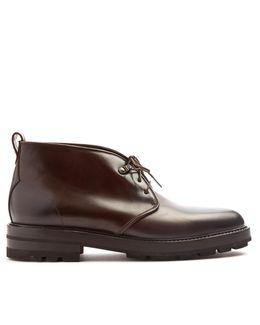 Dexter Raised-sole Leather Desert Boots