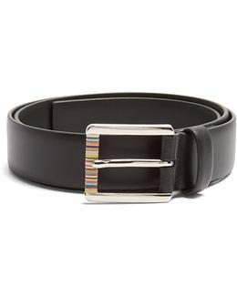 Artist Stripe Leather Belt