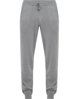 Cotton And Cashmere-blend Track Pants