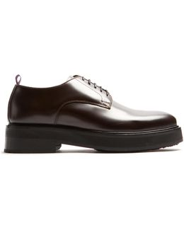 Kingston Raised-sole Leather Derby Shoes
