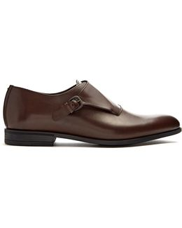 Florence Monk-strap Leather Shoes