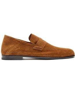 Edward Suede Penny Loafers
