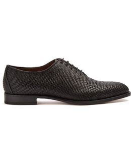 Woven-leather Derby Shoes