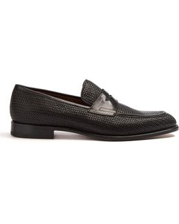 Woven-leather Loafers