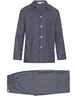 Braemar Checked Brushed-cotton Pyjama Set
