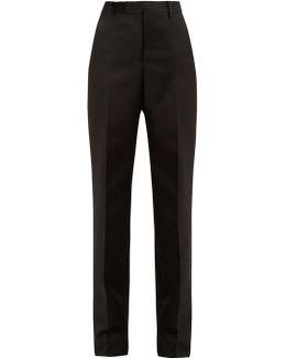 High-rise Straight-leg Wool Trousers