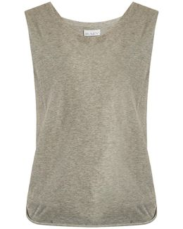 Knot-back Cotton-jersey Tank Top