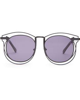 Simone Round-frame Sunglasses