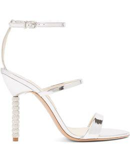 Rosalind Crystal-heel Leather Sandals
