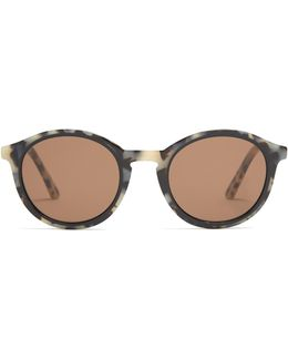 Buttery Round-frame Sunglasses