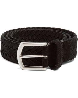 Woven-suede Belt