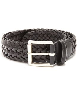 Woven-leather Belt
