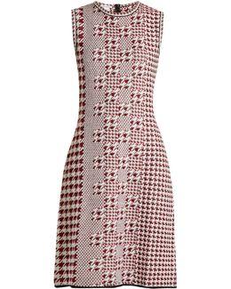 Sleeveless Intarsia-knit Wool Dress