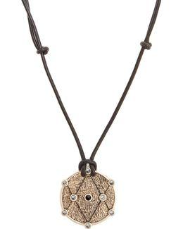 X Kate Moss Diamond, Amethyst & Gold Necklace