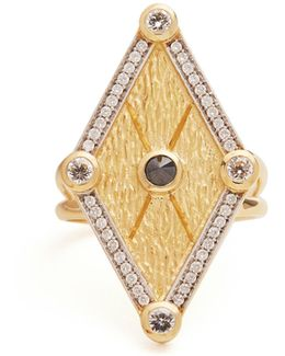 X Kate Moss Diamond & Gold Ring