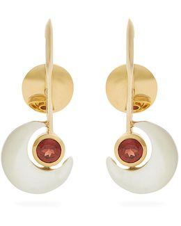 X Kate Moss Garnet & Gold Earrings